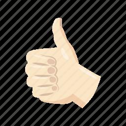 cartoon, good, media, network, social, thumb, up icon