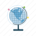 cartoon, earth, geography, globe, map, planet, world icon