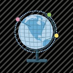 cartoon, earth, geography, globe, map, planet, world icon