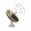 antenna, cartoon, dish, radar, satellite, tv, wireless icon