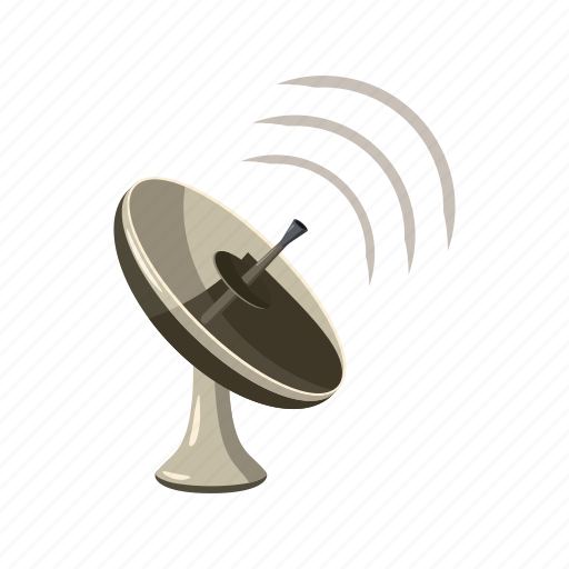 antenna, cartoon, dish, radar, satellite, tv, wireless icon