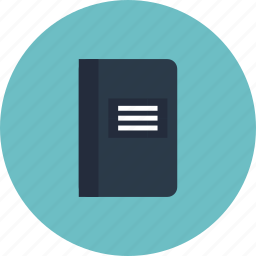 address, book, business, diary, equipment, notebook, object, office, textbook icon