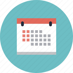 calendar, date, day, equipment, event, list, month, object, office, page, planning, reminder, sheet, time, year icon
