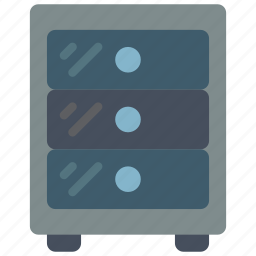 drawers, equipment, furniture, office icon