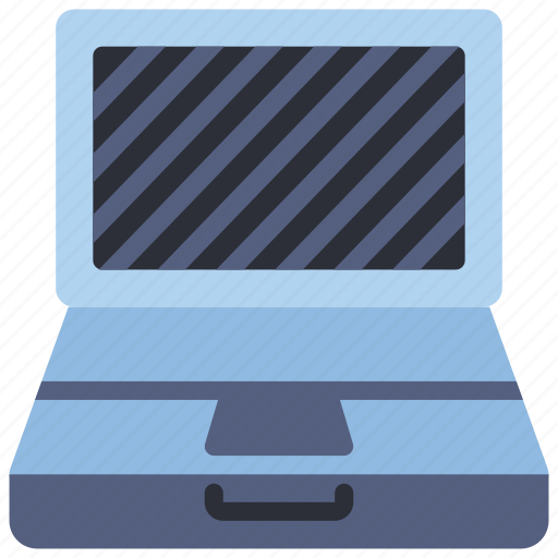 computer, equipment, laptop, off, office, pc icon