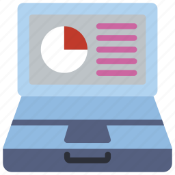 computer, equipment, laptop, office, pc, presentation icon
