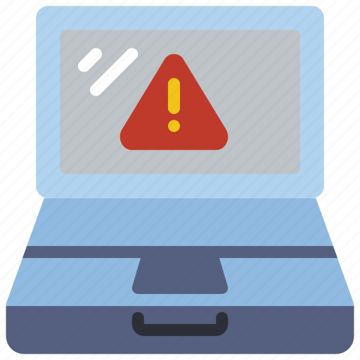 alert, computer, equipment, laptop, office, pc icon
