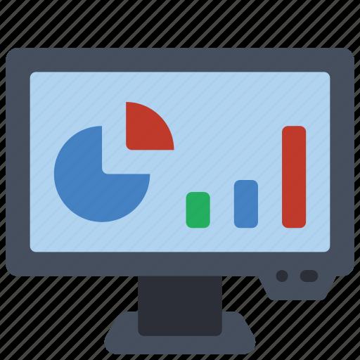 computer, equipment, monitor, office, pc, presentation icon