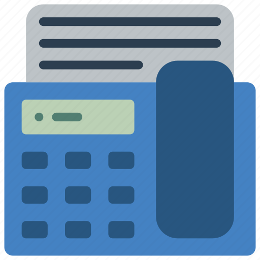 equipment, fax, office, phone, telephone icon