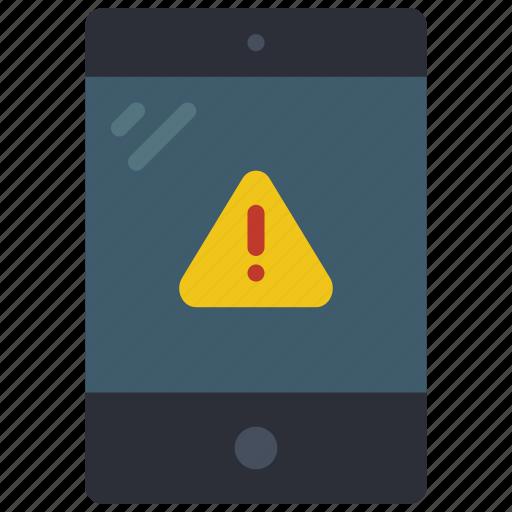 alert, equipment, ipad, office, tablet icon