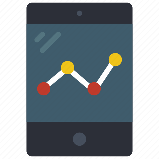 equipment, graph, ipad, office, tablet icon