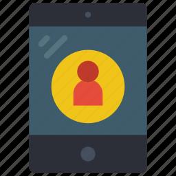 equipment, ipad, office, tablet, user icon