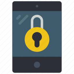 equipment, ipad, locked, office, tablet icon