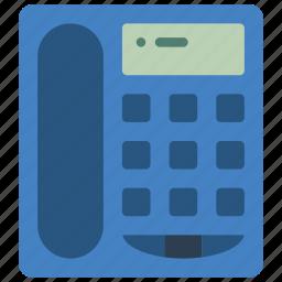 desktop, equipment, office, phone, telephone icon
