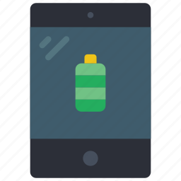 battery, equipment, ipad, office, tablet icon