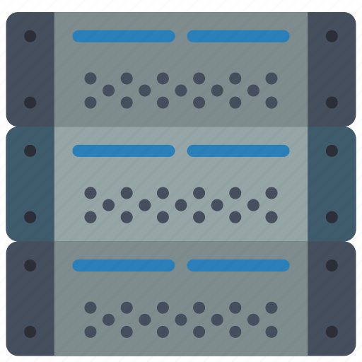 computer, equipment, office, server icon