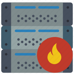 computer, equipment, firewalled, office, server icon