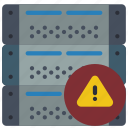 alert, computer, equipment, office, server icon