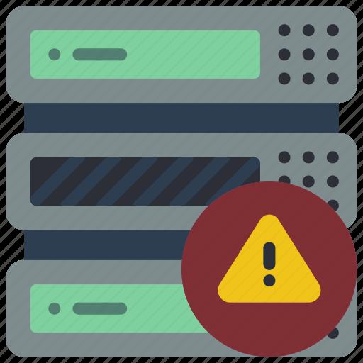 computer, equipment, hazard, office, server icon