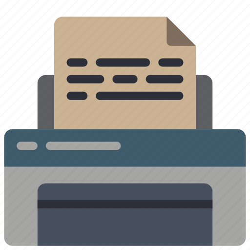 equipment, office, printer icon