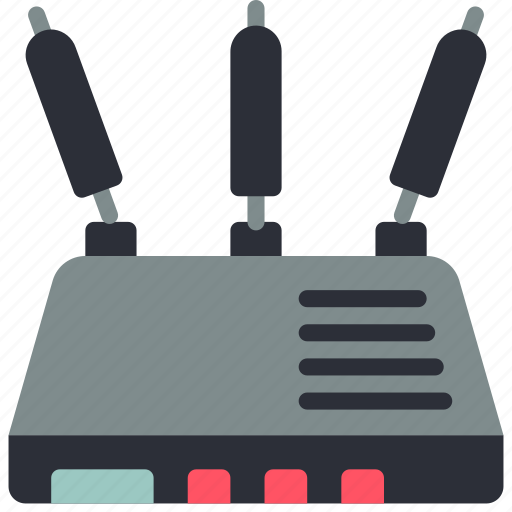 equipment, hub, office, router, wifi icon