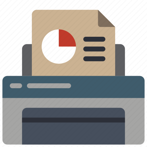 equipment, graph, office, printer icon