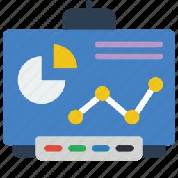 board, chart, equipment, flip, office, smart icon