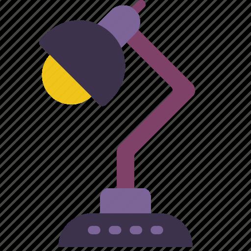 desktop, equipment, lamp, office icon