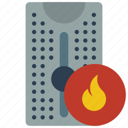 computer, equipment, firewalled, office, server, tower icon