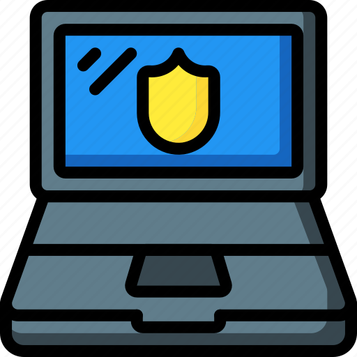computer, equipment, laptop, office, protected icon