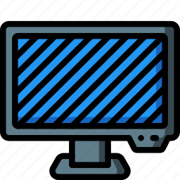 computer, equipment, monitor, off, office, screen icon