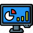 computer, equipment, monitor, office, presentation, screen icon