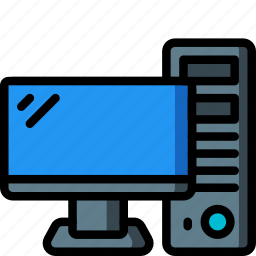 computer, equipment, monitor, office, screen icon