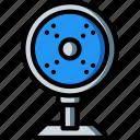 desktop, equipment, fan, office, on icon