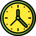 clock, equipment, office, time icon