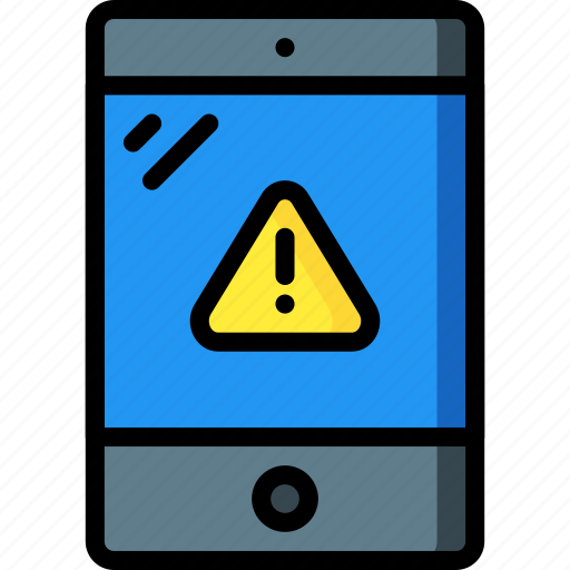 alert, equipment, ipad, office, tablet icon