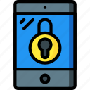 equipment, ipad, locked, office, tablet icon