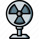 destop, equipment, fan, off, office icon
