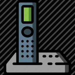 cordless, equipment, office, phone, telephone icon