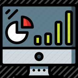 computer, equipment, monitor, office, presentation, screen icon