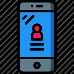 equipment, login, mobile, office, phone, smart icon