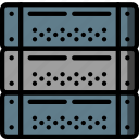 computer, equipment, office, server icon
