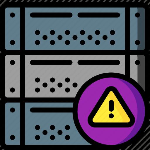 alert, computer, equipment, office, server icon