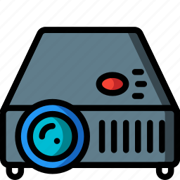 equipment, office, overhead, projector icon
