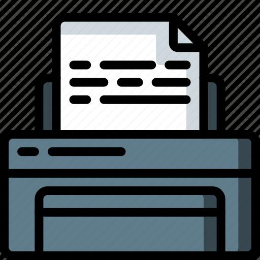 equipment, office, print, printer icon
