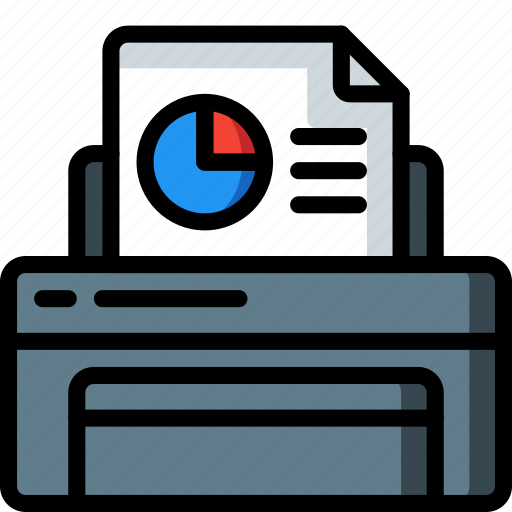 equipment, graph, office, print, printer icon
