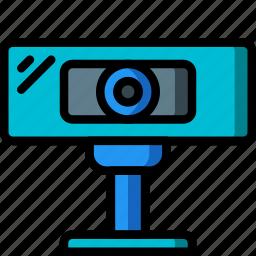 cam, camera, computer, equipment, office, webcam icon