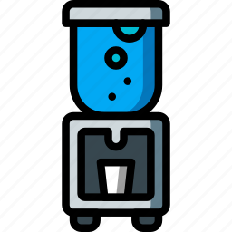 cooler, dispenser, equipment, office, water icon