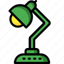 desktop, equipment, lamp, office icon