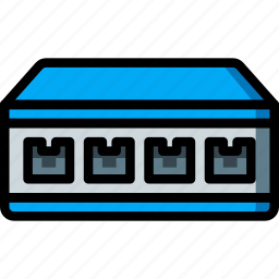 equipment, ethernet, network, office, switch icon